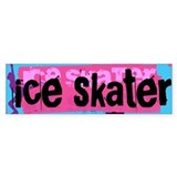 Figure Skating Bumper Car Sticker