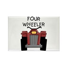 Four Wheeler Rectangle Magnet