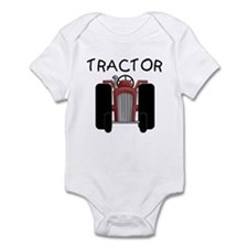Red Tractor Infant Bodysuit