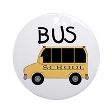 School Bus Ornament (Round)