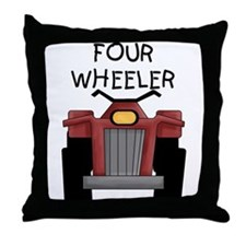 Four Wheeler Throw Pillow