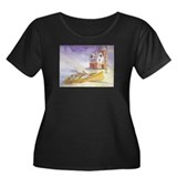 """The Lighthouse"" Plus Size Scoop Neck Da"