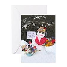 Cute Think snow Greeting Card