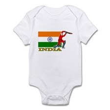 India Cricket Player Infant Bodysuit