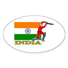 India Cricket Player Oval Sticker (50 pk)