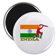 "India Cricket Player 2.25"" Magnet (100 pack)"