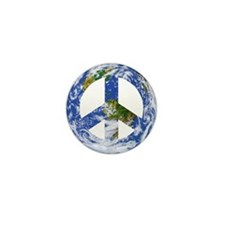 World Peace Sign East Mini Button