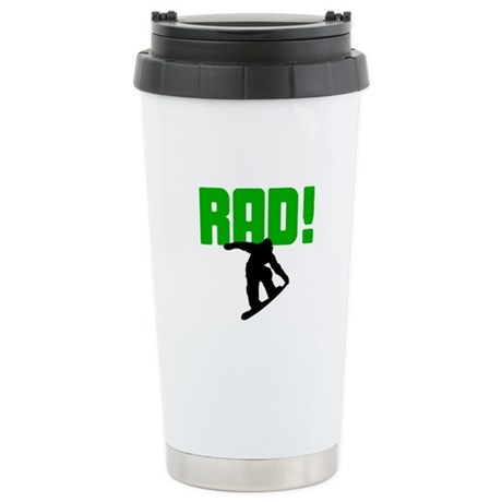 Rad Snowboarder Ceramic Travel Mug