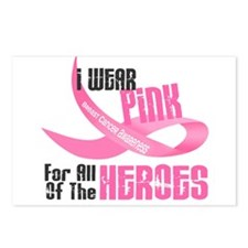 I Wear Pink For All Of The Heroes 33 Postcards (Pa