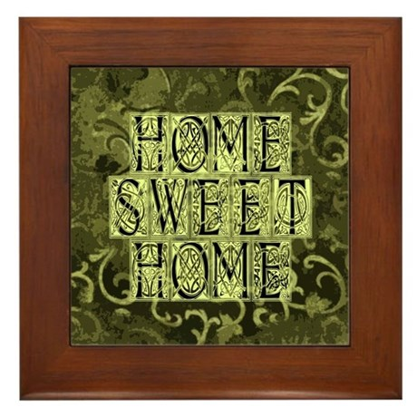 Home Sweet Home Framed Tile