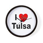 I Love Tulsa Oklahoma Wall Clock