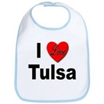 I Love Tulsa Oklahoma Bib