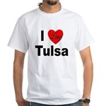 I Love Tulsa Oklahoma (Front) White T-Shirt