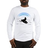 Long Sleeve Think Snow &amp; Ride Snowmobiling T-Shirt
