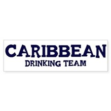 Caribbean drinking team Bumper Sticker (10 pk)