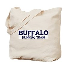 Buffalo drinking team Tote Bag