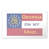 Georgia on my mind Rectangle Sticker 10 pk)
