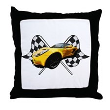 Lotus Racing Throw Pillow