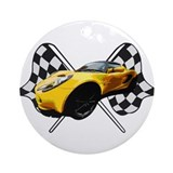 Lotus Racing Ornament (Round)