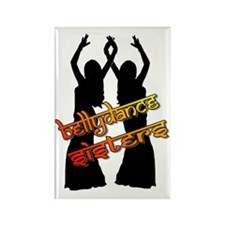 Bellydance Sisters fire Rectangle Magnet