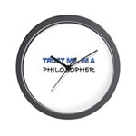 Trust Me I'm a Philosopher Wall Clock