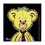 Yellow Teddy Bear (2) Tile Coaster