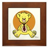 Yellow Teddy Bear Framed Tile