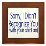 Shirt On Framed Tile