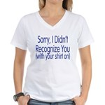 Shirt On Women's V-Neck T-Shirt