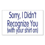 Shirt On Rectangle Sticker 50 pk)