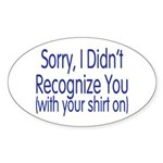 Shirt On Oval Sticker (10 pk)