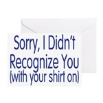 Shirt On Greeting Card
