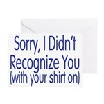 Shirt On Greeting Cards (Pk of 20)