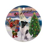 Fox Terrier Christmas Ornament (Round)