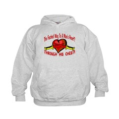 Man's Heart Kids Hoodie