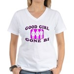 Good Girl Gone Bi Women's V-Neck T-Shirt