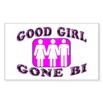 Good Girl Gone Bi Rectangle Sticker