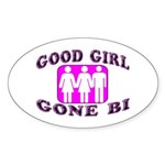 Good Girl Gone Bi Oval Sticker