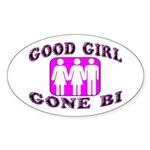 Good Girl Gone Bi Oval Sticker (50 pk)