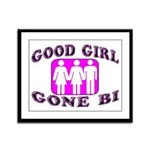Good Girl Gone Bi Framed Panel Print