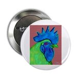 "Blue/Lime Rooster 2.25"" Button (10 pack)"