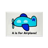 A is for Airplane! Rectangle Magnet