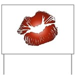 Red Lips Kiss Yard Sign