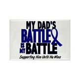 My Battle Too 1 BLUE (Dad) Rectangle Magnet (10 pa