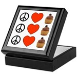 Peace Love & Cupcakes Keepsake Box