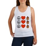 Peace Love & Cupcakes Women's Tank Top