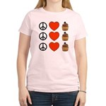 Peace Love & Cupcakes Women's Light T-Shirt