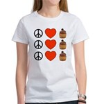 Peace Love & Cupcakes Women's T-Shirt