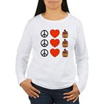 Peace Love & Cupcakes Women's Long Sleeve T-Shirt