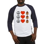 Peace Love & Cupcakes Baseball Jersey